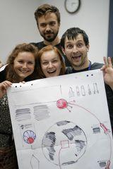 интенсив по созданию инфографики. Тренерами выступила команда инфограферов проекта «Московские новости» - неоднократные победители международного конкурса инфографики Malofej